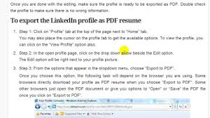 Get Resume From Linkedin Create A LinkedIn Profile And Export As PDF Resume YouTube 1