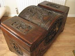 oriental carved camphor wood chest antique chests chinese chest