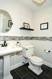 R Powder Room Tile Contemporary With Specialty  Floors Linen Porcelain