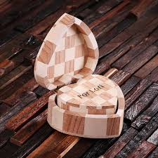 personalized wood hearts small