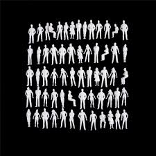 <b>10pcs</b>/pack DIY Toys white figures Architectural model human scale ...