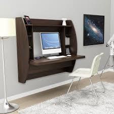 image of espresso floating desks with storage
