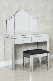 Modern mirrored furniture Side Table 3piece Modern Glass Dressing Table Set Stool And Mirror Furniture Maxi Furniture Maxi 3piece Modern Glass Dressing Table Set Stool And Mirror Furniture