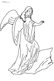 Small Picture Blessing Angel Coloring Page