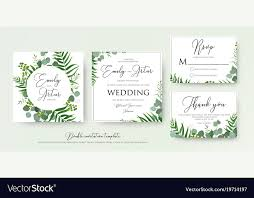 Wedding Thank You Notes Templates Greenery Floral Wedding Invitation Thank You Cards