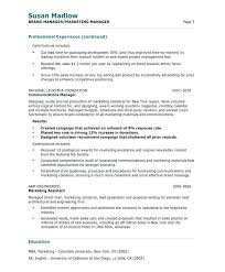 Marketing Executive Resume Sample Pdf