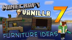Minecraft Vanilla 7 furniture ideas Arredamento Minecraftiano