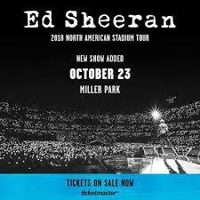 Ed Sheeran Milwaukee Seating Chart Bts Tickets Newark 51 70 Picclick