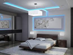 Tray Master Bedroom Ceiling With Recessed Led Lighting Fixtures In A Gray  Painted Bedroom With Dark Mahogany Furnishing And Fur Rug
