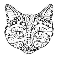 Small Picture Cat Coloring Pages for Adults