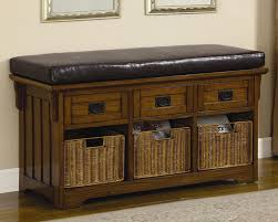 Storage Bench With Basket And Padded SeatBench With Padded Seat