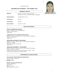 Resume Sample For Job Application In Philippines New Resume Sample