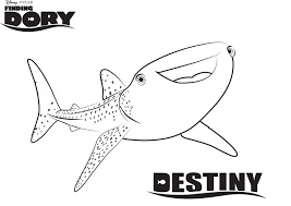 Small Picture Whale Shark Destiny from Finding Dory Coloring Page Get Coloring