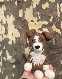Border Collie Knitting Chart Crochet Border Collie Amigurumi Project British Wool Toft