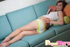 Pregnant Mary Magic Wand Couch Pretty Preggo Girl Masturbates.