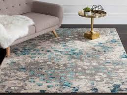 crosier power loom grey silver area rug from blue grey