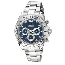 mens accurist stainless steel watch mb944n market cross jewellers mens chronograph watch mb944n