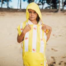 kids hooded beach towels. Kids\u0027 Hooded Swim Poncho In Yellow Kids Beach Towels H