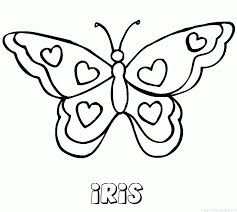 Kleurplaat Iris