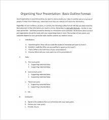 9 Presentation Outline Templates Free Premium Templates