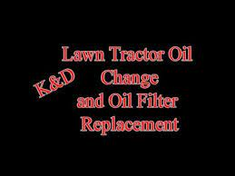 craftsman lawn tractor oil and oil