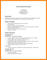 Resume Clerical Skills Itacams F789800e4501