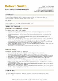 Junior Financial Analyst Resume Samples QwikResume Extraordinary Resume Headline For Financial Analyst