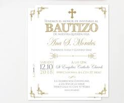 Printable Baptism Invitations Gold Baptism Invitation Spanish Baptism Invitation Printable Christening Invitation Glitter Invites Español Girl Boy Baptism Bfc02