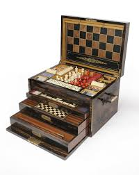 Wooden Games Compendium Tennants Auctioneers An Extensive Victorian Coromandel Cased 10