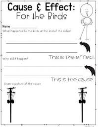 best cause and effect ideas cause and effect   bie intro to cause and effect using for the birds a video short printable to go the video and more lesson ideas for teaching cause