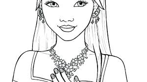 Cute Girl Coloring Pages Girl Printable Coloring Pages Pretty Girl