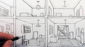 bedroom drawing one point perspective. Unique Perspective On Bedroom Drawing One Point Perspective E