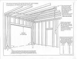 garage door framing plans