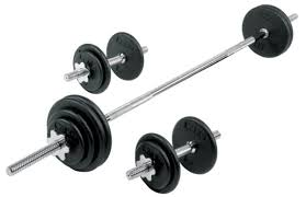 york barbell set. pro cast iron dumbbell / barbell spinlock set york a