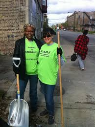 RAGE Members Sonya Harper and Teresa Gonzalez at Greater Englewood Clean Up  Day | R.A.G.E.