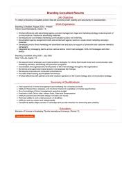 Product Consultant Resumes Branding Consultant Resume Great Sample Resume