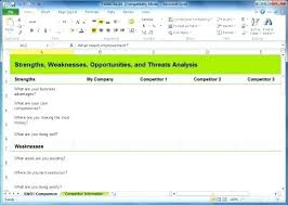 Free Swot Template Excel Analysis Template Free Swot Templates