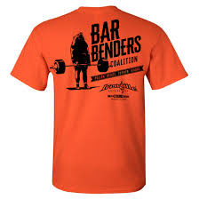 bar benders coalition pullin deads turnin heads powerlifting t shirt orange