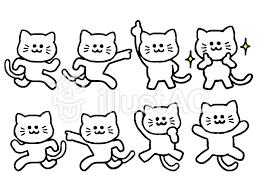 猫のセット動物シンプルイラスト No 1398780無料イラストなら