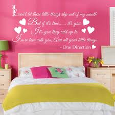 One Direction Bedroom Decor Aliexpresscom Buy One Direction Little Things Song Wall Art