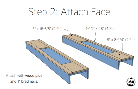 diy faux fireplace mantel surround plans step 2