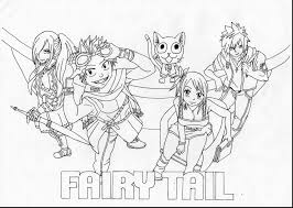 Small Picture Awesome Fairy Tail Color Pages Contemporary At Coloring itgodme