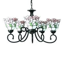 24 inch chandelier five light nature inspired inch pink stained glass chandelier ceiling light 24 inch 24 inch chandelier