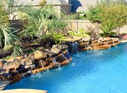Rock Waterfalls - Low Profile Rock Waterfall Swimming Pool Feature -  Southlake, Texas