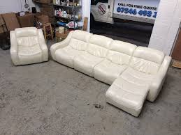 Modular Living Room Furniture Uk Dfs Zara Corner Modular Leather Sofa Plus Armchair White Cream