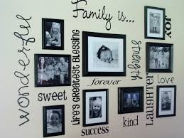Decorations:Unique Wall Decoration Idea Using Vintage Wooden Frame On White  Wall Ideas Sweet Family