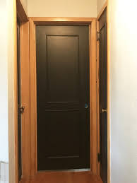 Painting Interior Doors Black Adding New Hardware