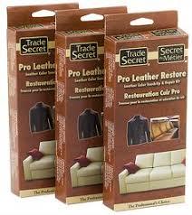 furniture repair kit. trade secret: pro leather restore - need to repair automotive, apparel or furniture kit o