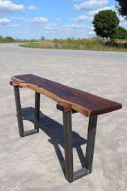 japanese inspired furniture. Japanese Inspired Black Walnut+ Raw Steel Sofa Table Furniture