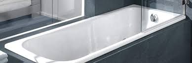 acrylic baths are warmer to touch but don t conduct as well as the steel therefore they cool quicker and you may have to top them up with hot water for a